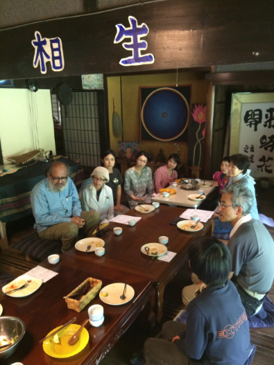 Monthly luncheon gathering at 'Sorano-ie' (a house in the air): Ainoukai involves in rebuilding rural communities by helping urban people to settle in rural villages and to start farming.